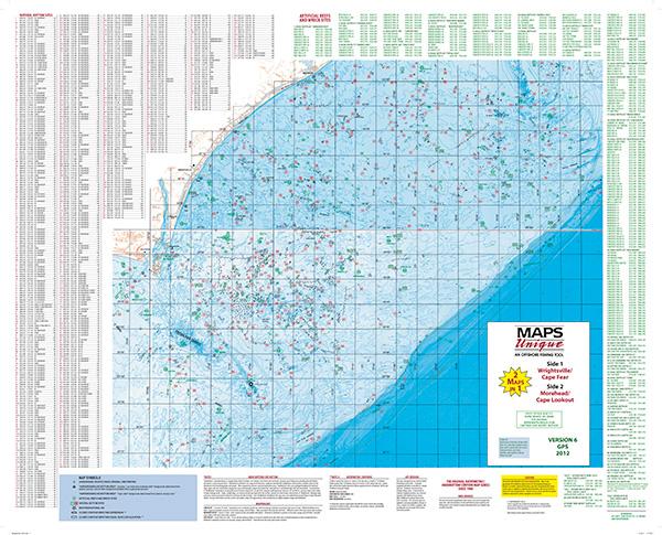 Wrightsville Beach Offshore Fishing Map