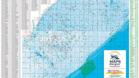 Cape Fear Offshore Fishing Map