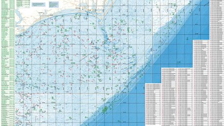 Cape Lookout Offshore Fishing Map
