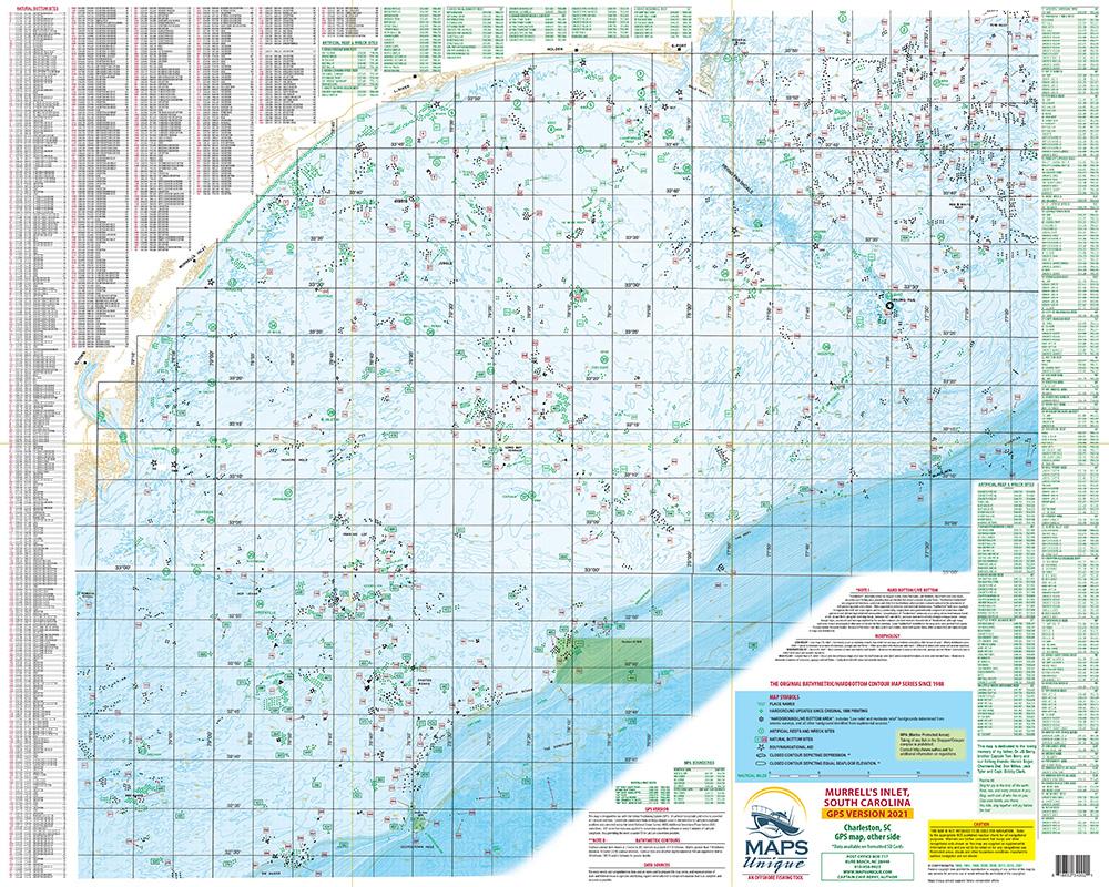 Murrels Inlet SC Fishing Map